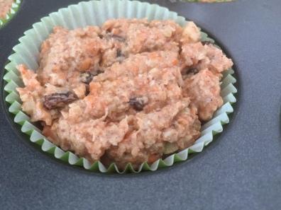Gluten-free Vegan Carrot Cake Muffins ready for baking