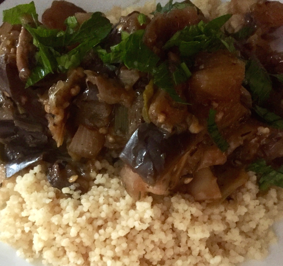 Mushroom and Eggplant Couscous