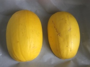 Spaghetti Squash Ready for Roasting, via Eat the Vegan Rainbow