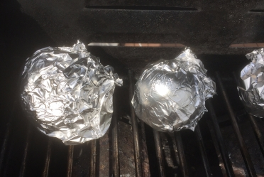 Beets Roasting on a Grill