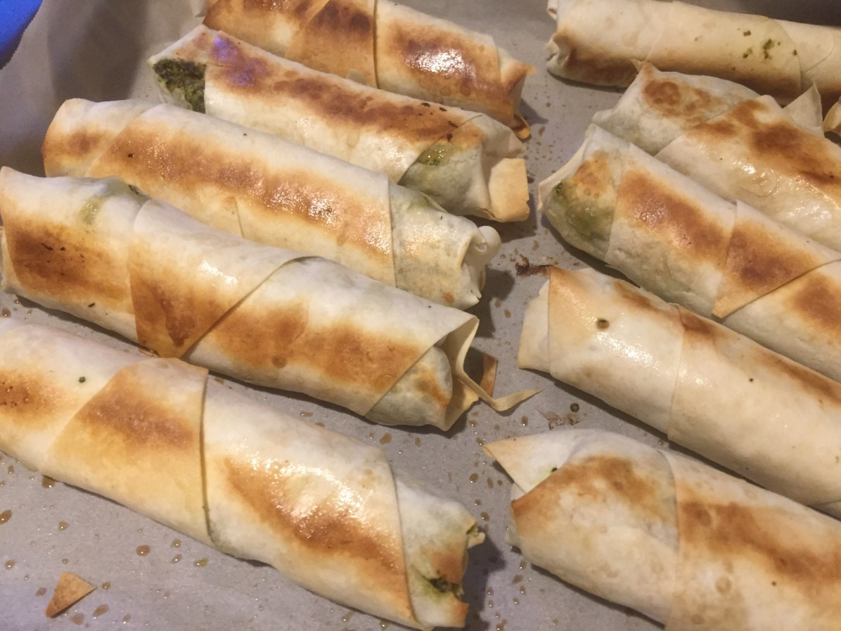 Spanakopita rolls, Eat the Vegan Rainbow