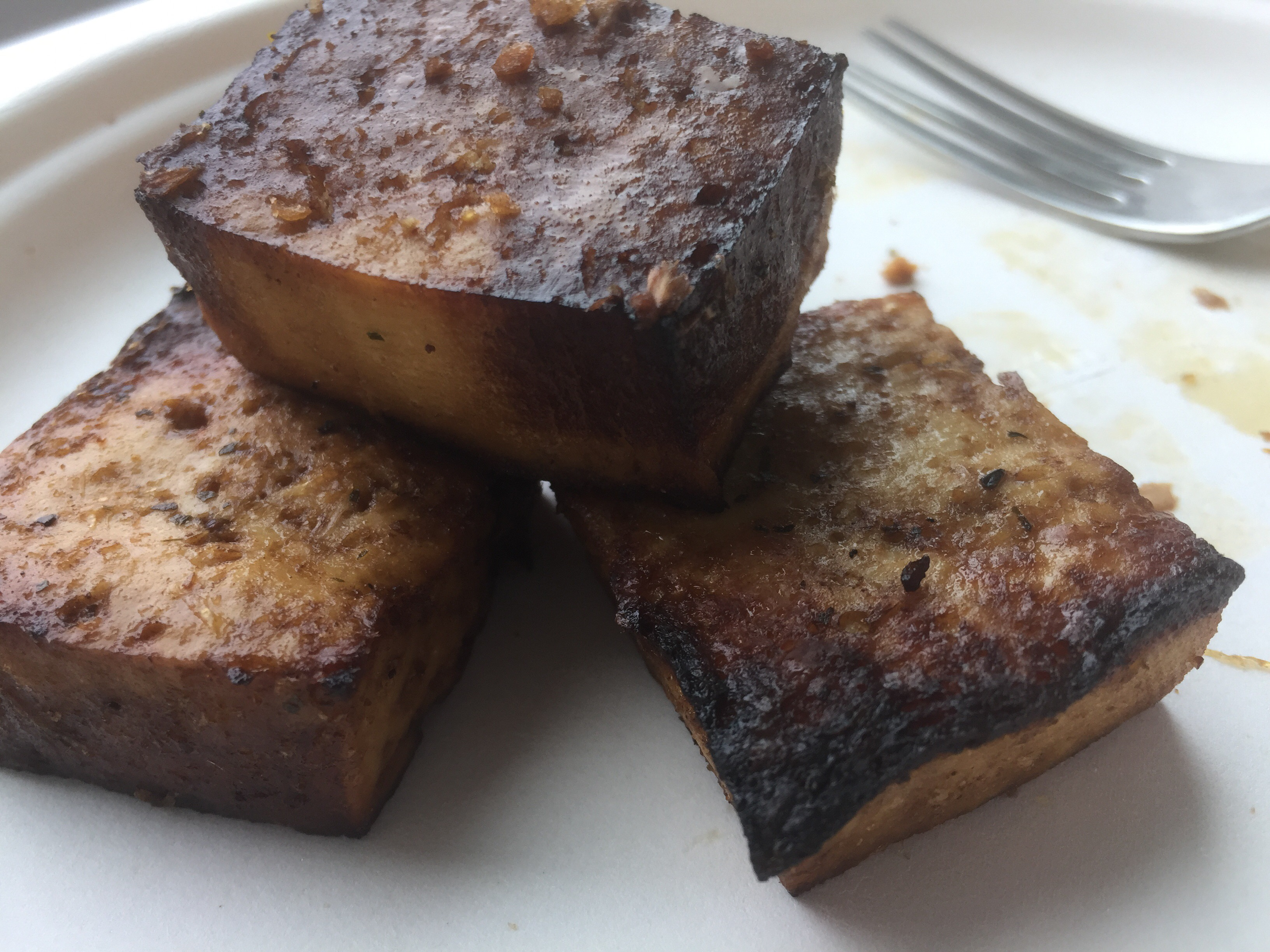 Beef steak tips are tough and chewy, and slightly annoying but these tofu steak tips will have you asking for more!