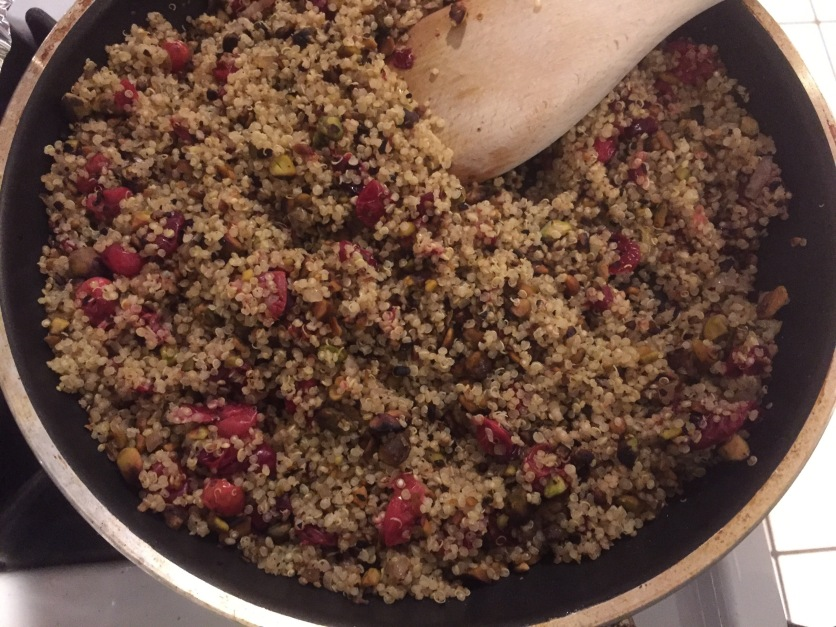 Quinoa with Roasted Cranberries and Pistachios, via Eat the Vegan Rainbow