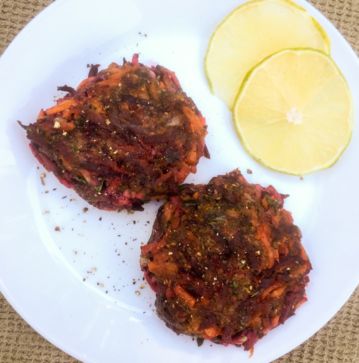 Beet, Carrot and Apple Fritters - CSA Week 4