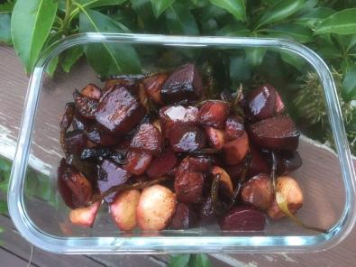 Balsamic Vinegar Glazed Beets and Turnips, via Eat the Vegan Rainbow