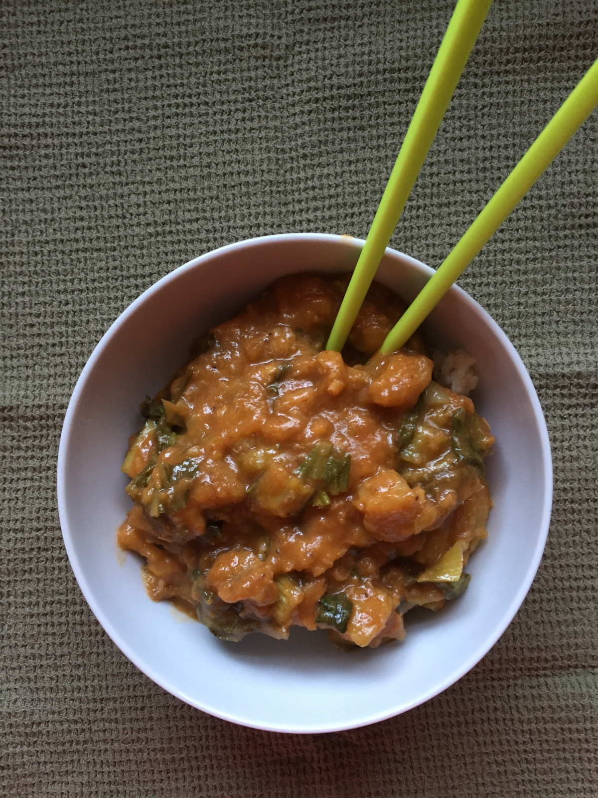 Thai Red Curry with Plantains and Bok Choy, via Eat the Vegan Rainbow