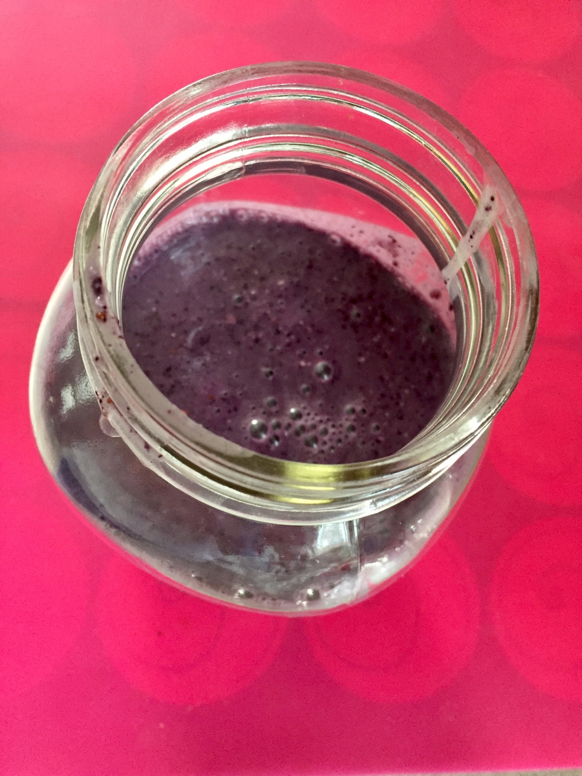 Reboot smoothie with blueberries, peanut butter powder, and oatmeal