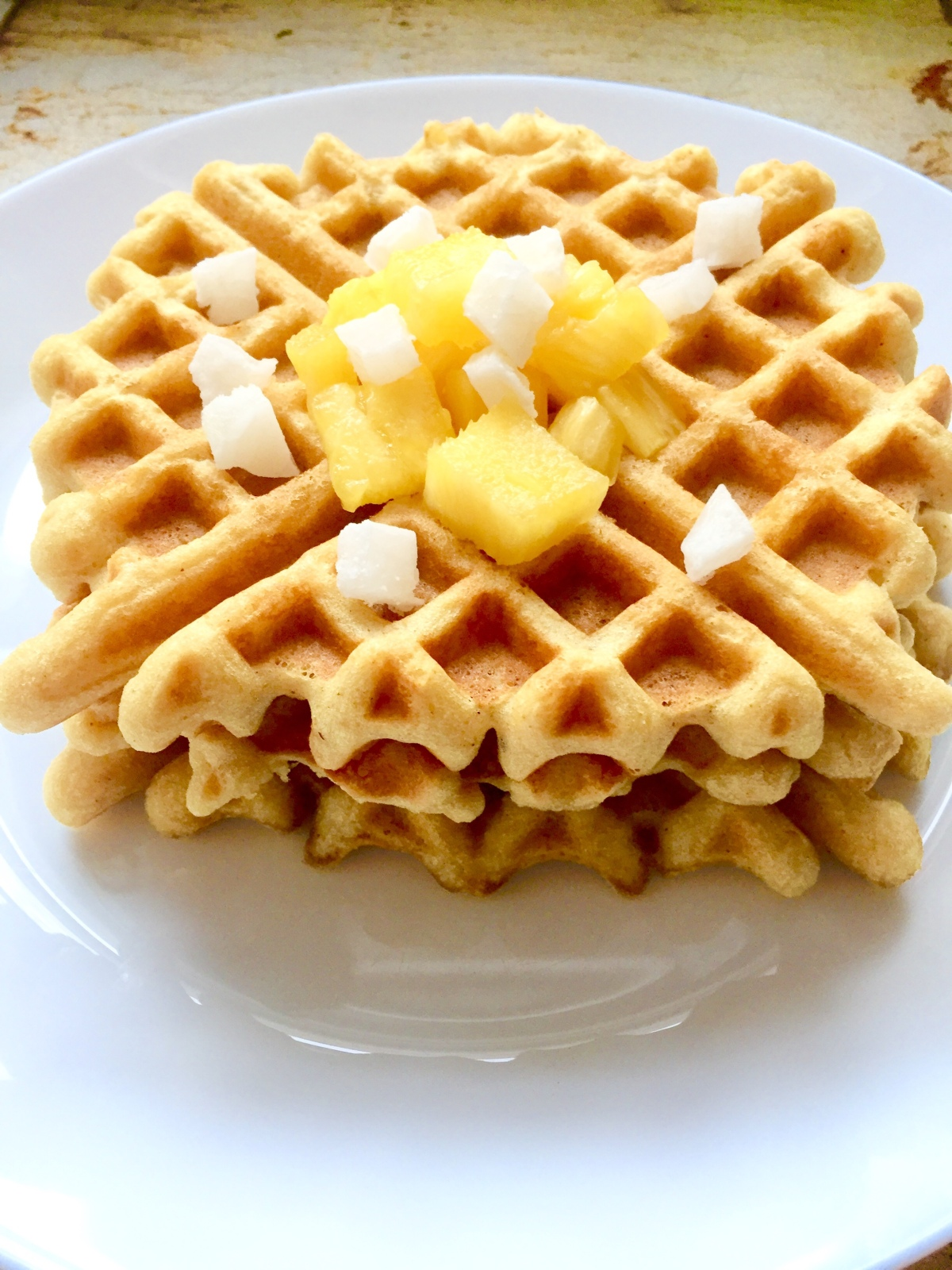 Basic Vegan Waffles via Eat the Vegan Rainbow