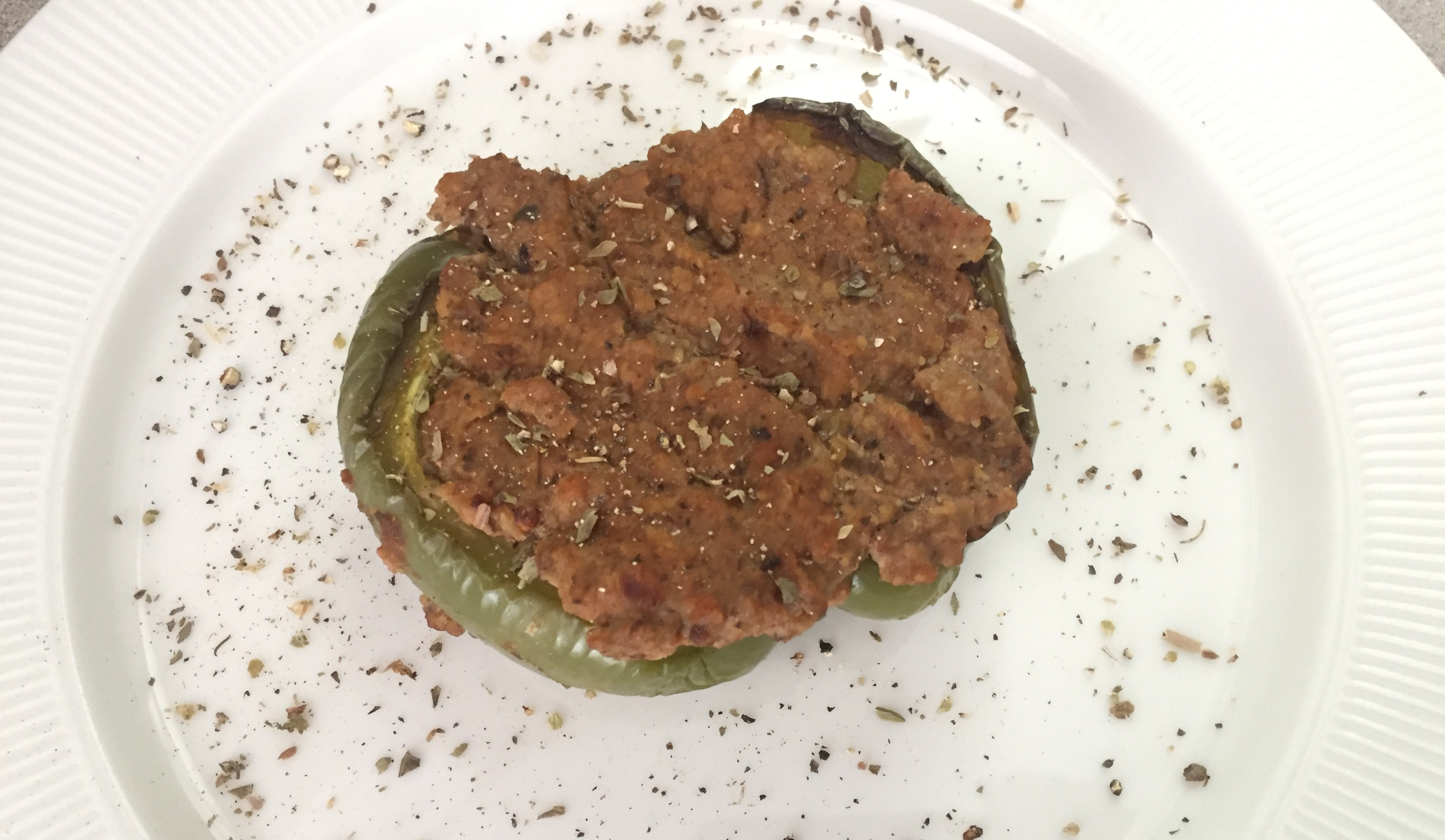 Tempeh Stuffed Peppers