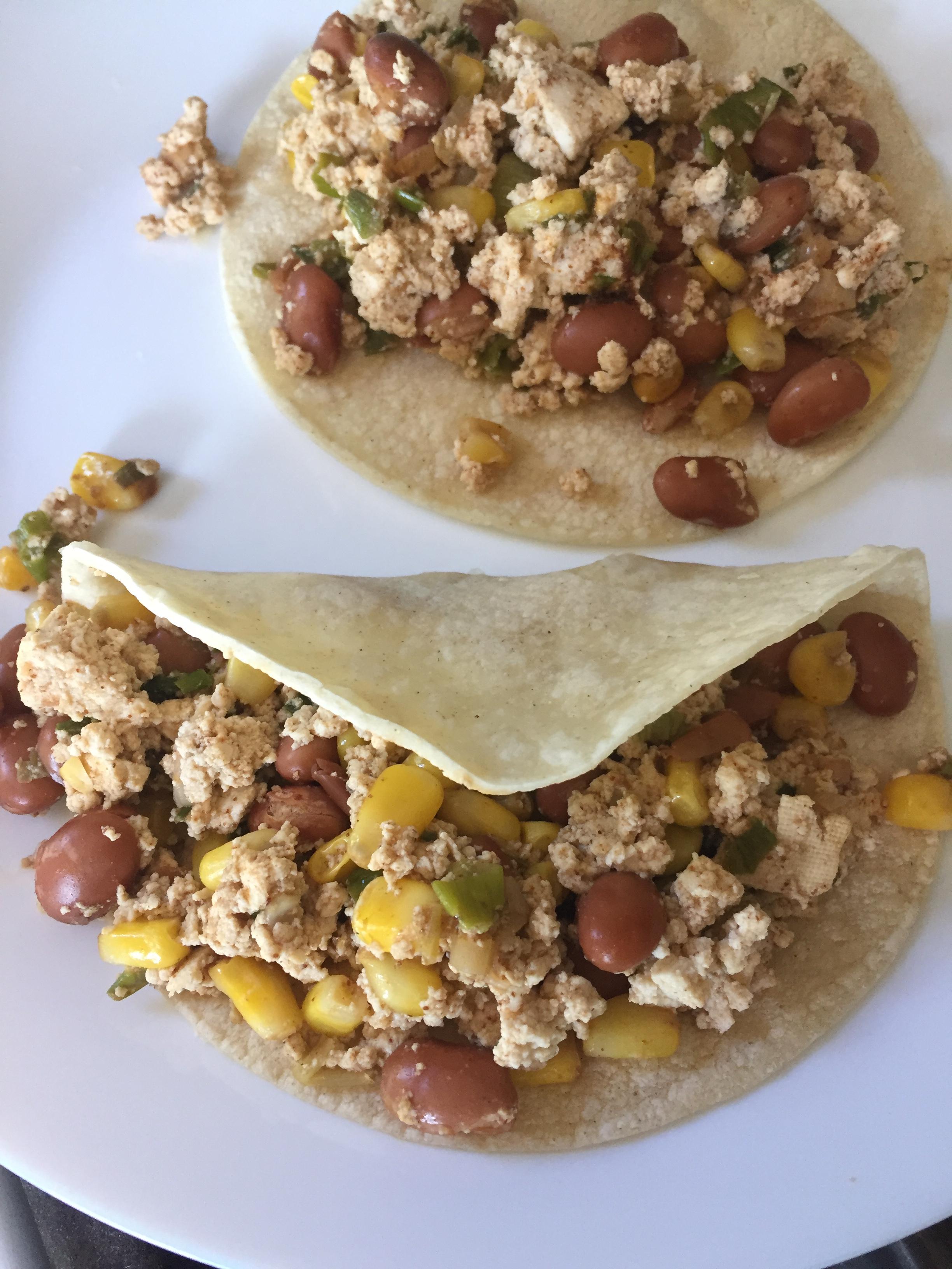 Breakfast Tacos with Tex-Mex Scrambled Tofu