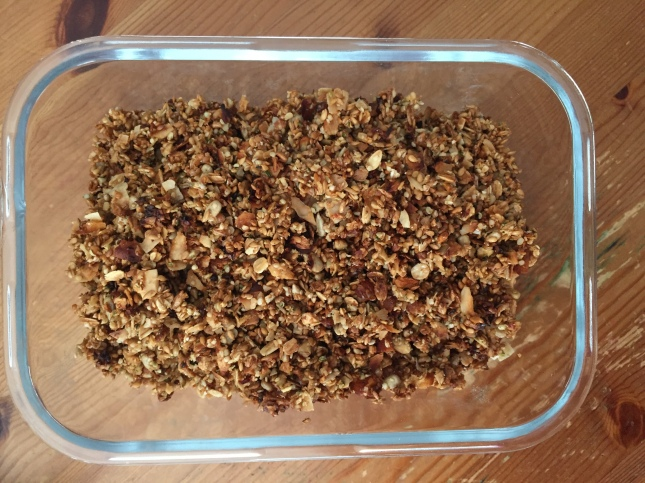 Homemade Nut and Seed Granola, via Eat the Vegan Rainbow