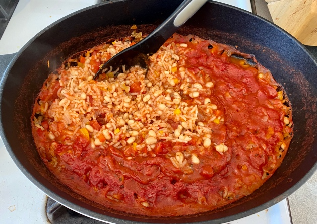 Italian Rice and Beans, via Eat the Vegan Rainbow